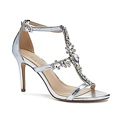 Pink by Paradox London - Silver Metallic 'Stella' high heel sandals
