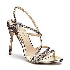 Pink by Paradox London - Gold Glitter 'Saffie' high heel sandals