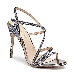 Pink by Paradox London - Silver Glitter 'Saffie' high heel sandals