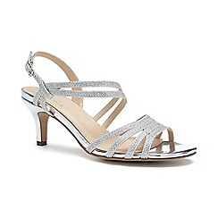 Pink by Paradox London - Silver Glitter 'Sania' mid heel sandals