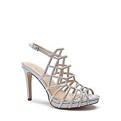 Pink by Paradox London - Silver Glitter 'Stacia' high heel platform sandals