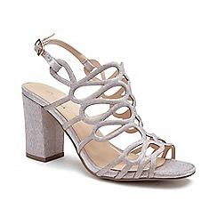 Pink by Paradox London - Pink Glitter 'Salisa' high block heel sandals