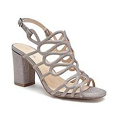 Pink by Paradox London - Cream Glitter 'Salisa' high block heel sandals