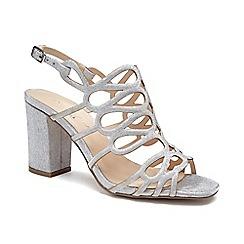 Pink by Paradox London - Silver Glitter 'Salisa' high block heel sandals