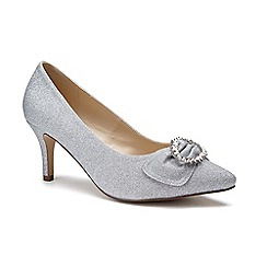 4c4dea8c80af Pink by Paradox London - Silver Glitter  Lena  mid heel wide fit court shoes