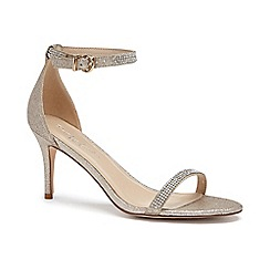 Pink by Paradox London - Gold Shimmer 'Star' mid heel stiletto sandals