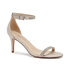 Pink by Paradox London - Cream Shimmer 'Star' mid heel stiletto sandals