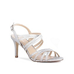 655b4f4f012a4e Pink by Paradox London - Silver Glitter  Serafina  high heel stiletto  sandals