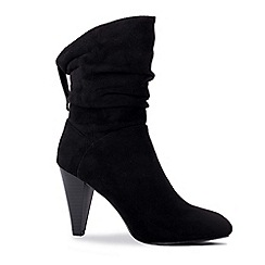 Pink by Paradox London - Black 'Arizona' high cone heel ankle boots