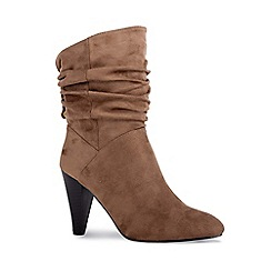 Pink by Paradox London - Brown 'Arizona' high cone heel ankle boots