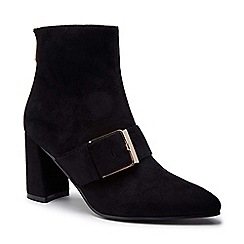 Pink by Paradox London - Black 'Azeelia' mid heel block ankle boots