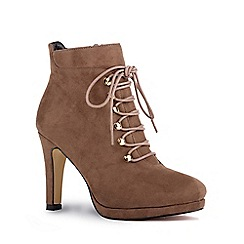 Pink by Paradox London - Brown 'Ariella' high heel ankle boots