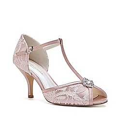 Pink by Paradox London - Pink satin and lace  Charlote  high heel stiletto t 0fd2b987639f