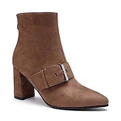 Pink by Paradox London - Brown 'Azeelia' mid heel block ankle boots