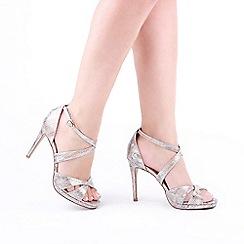Pink by Paradox London - Ivory 'Levi' High Heel Stiletto Heel Platform Sandals