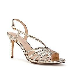 Pink by Paradox London - Gold Metallic 'Hailey' High Heel Stiletto Heel Sandals