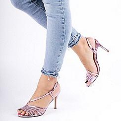 Pink by Paradox London - Metallic 'Hailey' High Heel Stiletto Heel Sandals