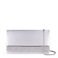 Pink by Paradox London - Silver Satin  Delia  Clutch Bag d406d0ca07c2