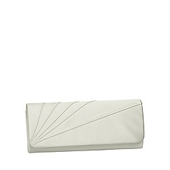 Pink by Paradox London - Ivory satin 'posie' clutch handbag