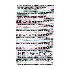 Help for Heroes - Dot-Dash tea towel
