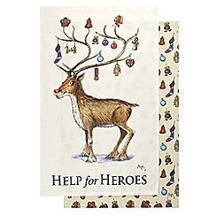 Help for Heroes - Reindeer and Decorations Tea Towel Set
