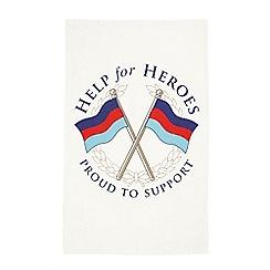 Help for Heroes - Crossed flags tea towel