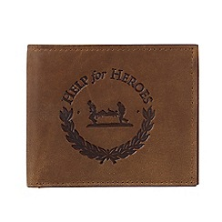 Help for Heroes - Brown Leather Bi-Fold Wallet With Crest