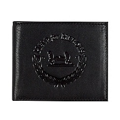 Help for Heroes - Black Leather Bi-Fold Wallet With Crest