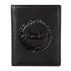 Help for Heroes - Black leather tri-fold wallet with crest