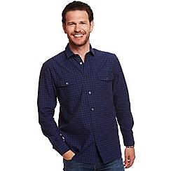 Help for Heroes - Blue Tonal Long Sleeve Check Shirt
