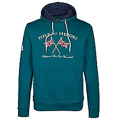 Help for Heroes - Blue crossed flag pull-on hoody