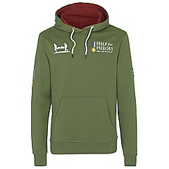 Help for Heroes - Classic clover green hoody with flag