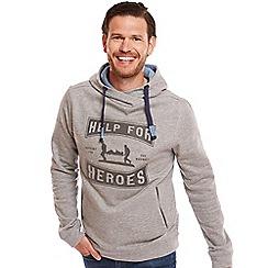 Help for Heroes - Grey Marl funnel neck hoody