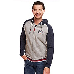 Help for Heroes - Grey Marl Raglan Zipped Hoody