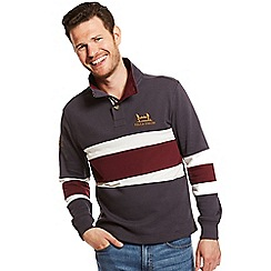 Help for Heroes - Grey and burgundy striped sweatshirt