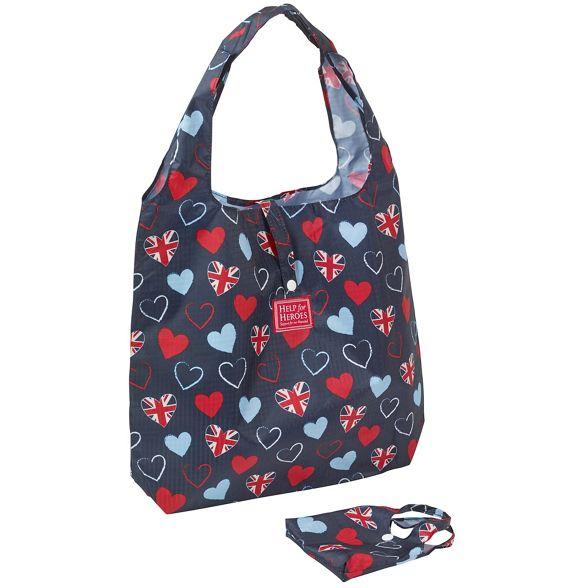 Foldaway bag heart Help for Heroes tri PHw84n