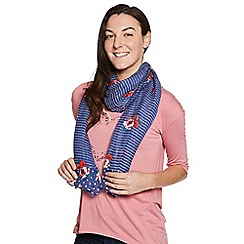 Help for Heroes - Blue Floral Peony Scarf