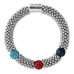 Help for Heroes - Tri Colour Elasticated Bead Link Bracelet