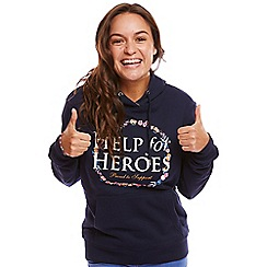 Help for Heroes - Navy Floral Rose Pullover Hoody