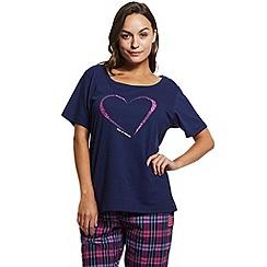 Help for Heroes - Heart and check pyjama set