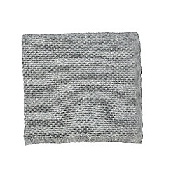 Fable - Grey mohair 'Annisa' knitted throw
