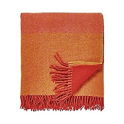 Clarissa Hulse - Dark pink lambswool 'Filix' blanket