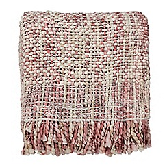 Harlequin - Plum acrylic 'Salice' knitted throw