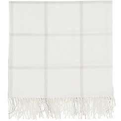 Sanderson - Light grey acrylic Sanderson Options 'Tuileries' blanket