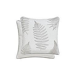 Sanderson - Silver cotton 'Alencon' cushion