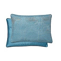 Hotel - Dark turquoise polyester 'Alinea' cushion