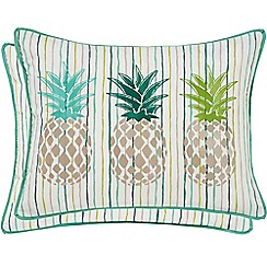 Helena Springfield - Bright green polyester and cotton 'Amalfi Tropical' breakfast cushion