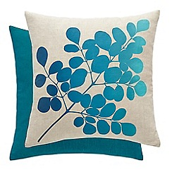 Clarissa Hulse - Blue linen 'Angeliki' cushion