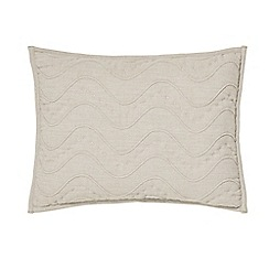 Designers Guild - Natural cotton chambray 'Aurelia' quilted cushion