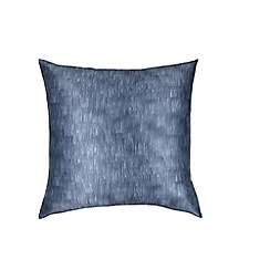 DKNY - Dark blue polyester and cotton 'Camo Floral' pillow sham
